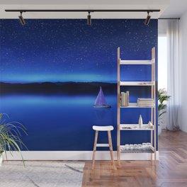 The Star Gazer - Nautical Milky Way Twilight Wall Mural