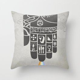 Poster Project | Hospitality Hand Throw Pillow