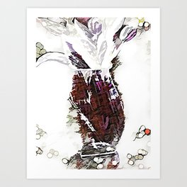 Champaign And Flowers Art Print