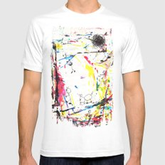 They Enjoy the Color Attack! Mens Fitted Tee White MEDIUM
