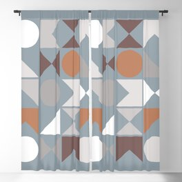 Mid Century Modern Geometric 17 Blackout Curtain