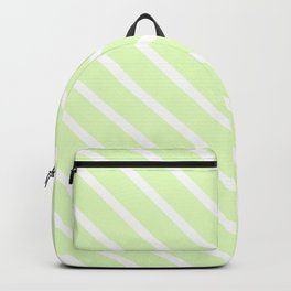 Cool Cucumber Diagonal Stripes Backpack