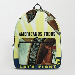 Americans All - Let's Fight for Victory Backpack