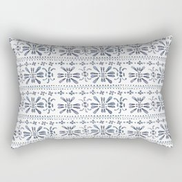 Indigo Pattern Rectangular Pillow
