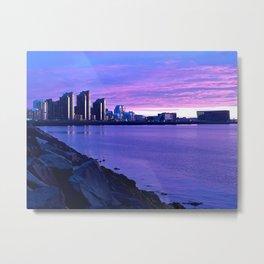 Purple Skies, Reykjavik Metal Print