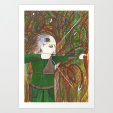 Red Kite Archer Art Print