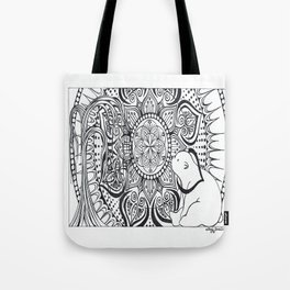Polar Bear Mandala by Lady Lorelie Tote Bag