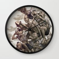 artgerm Wall Clocks featuring Ten Brothers by Artgerm™