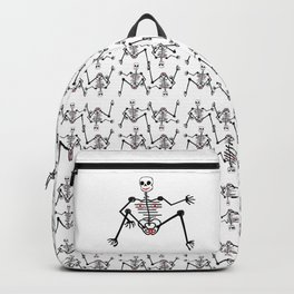 Black Skeleton  Female Backpack
