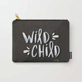 Wild Child – White on Black Palette Carry-All Pouch