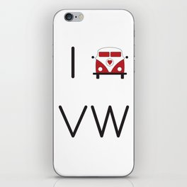I heart Campervans iPhone Skin