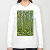 birch Long Sleeve T-shirts featuring Birch Grove by Svetlana Korneliuk