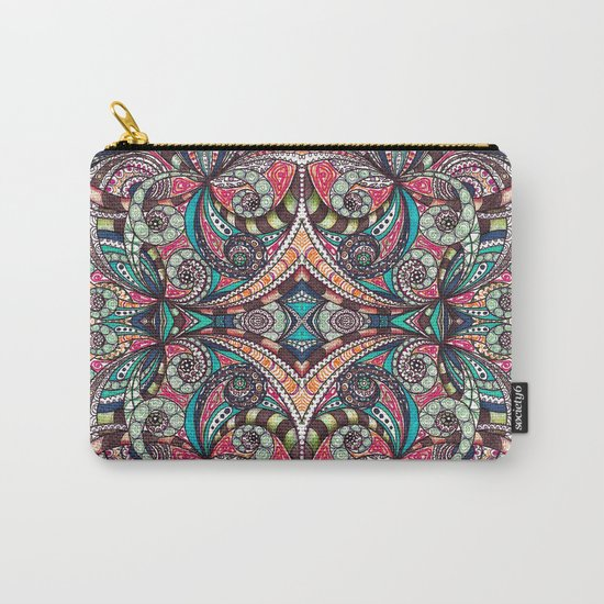 Drawing Floral Zentangle G237 Carry-All Pouch