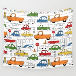 Busy Traffic Pattern Wall Tapestry