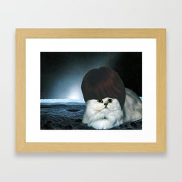 Ginger Spacecat Framed Art Print