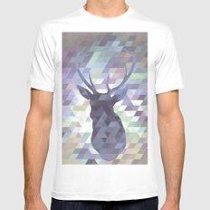 Deer MEDIUM Mens Fitted Tee White