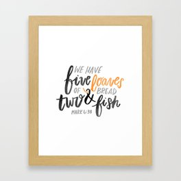Loaves & fish Framed Art Print