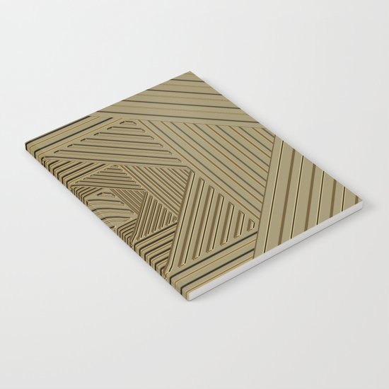 Golden Maze Notebook