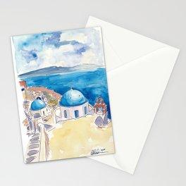 Santorini Oia View Mediterranean Dream Stationery Cards