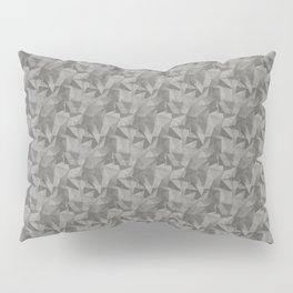 Abstract Geometrical Triangle Patterns 2 Benjamin Moore 2019 Trending Color Kendall Charcoal Gray HC Pillow Sham