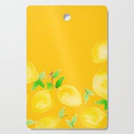 Lemons on Mustard Yellow Cutting Board
