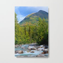 Mountain Stream - Alaska Metal Print