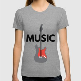 Music with Guitar T-shirt