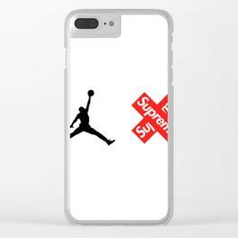Jordan XXX Jumpman Supreme Clear iPhone Case