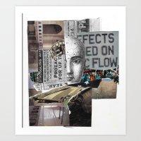 Psychopharmaceutical Collage Art Print