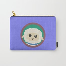 Cute Sheep with purple Circle Carry-All Pouch