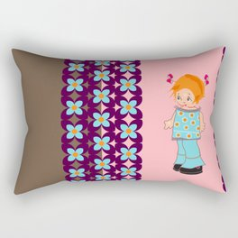 little miss mink Rectangular Pillow