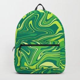 Green Nature Liquid Agate Backpack