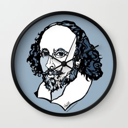 William Shakespeare The Bard by Arty Mar Wall Clock