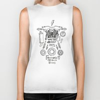 motorcycle Biker Tanks featuring Motorcycle by ElaBaer