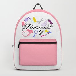 Hairapist Hairdresser Hair Stylist Barber Design Backpack