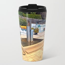 The village fountain of Alberndorf in der Riedmark Travel Mug