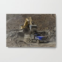 Earth Movers Metal Print