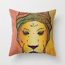 Erykah Badu Lioness Throw Pillow