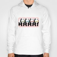 pandas Hoodies featuring Pandas by mailboxdisco