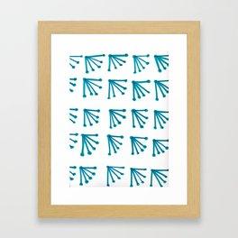 Blue Fans Framed Art Print