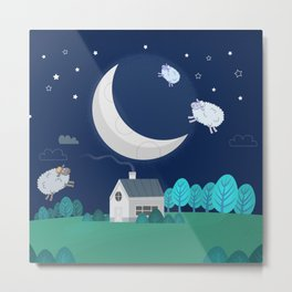 What The Sheep Do While You Sleep Metal Print