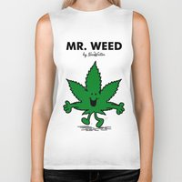 weed Biker Tanks featuring Mr Weed by NicoWriter
