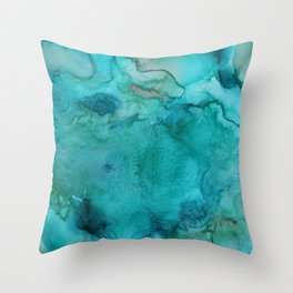 Aqua Tones Throw Pillow