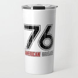 76 Jersey Black Front Travel Mug