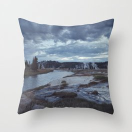Hot Springs, Yellowstone Throw Pillow