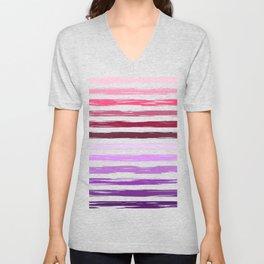 Colorful stripes pattern Unisex V-Neck