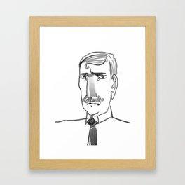 Disapproving gentleman Framed Art Print