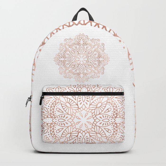 Mandala Rose Gold Pink Shimmer by Nature Magick Backpack