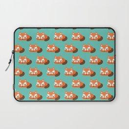 Sleeping Fox Print - Teal Laptop Sleeve