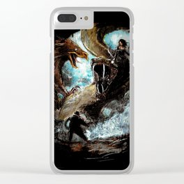Feathered Death Clear iPhone Case